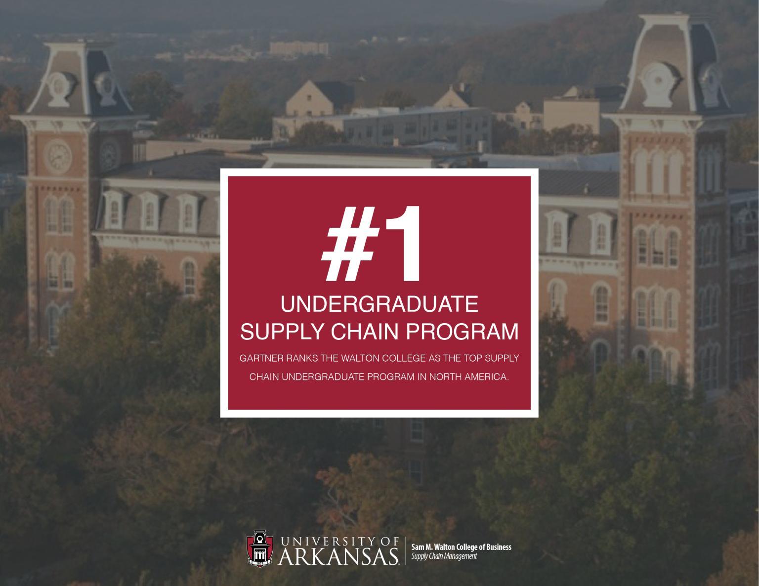 University of Arkansas named #1 undergraduate supply chain program in North America!