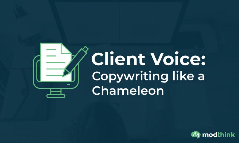 Client Voice: Copywriting like a Chameleon
